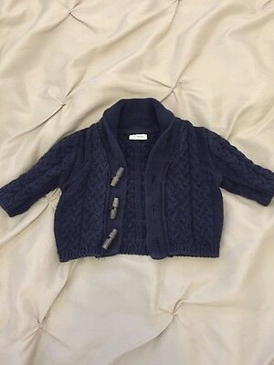 NEXT blue Knitted Cardigan 0-3 Months