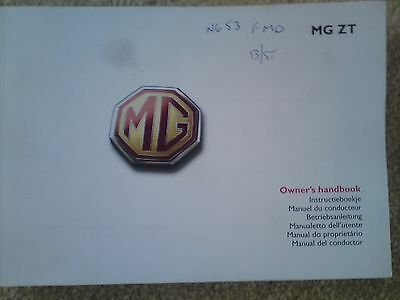 MG ZT / ZT-T  Owners Handbook and service record