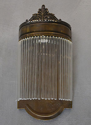 Wall Lamp Sconce Art Deco Vintage Light Glass Copper Shade Brass Noveau Retro