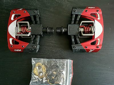New CrankBrothers Mallet 3 Clip Pedals Cleats Mtb Xc Dh Dj Egg beaters Xt Bike