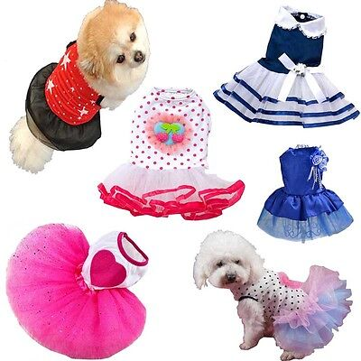Small Dog Cat Tutu Dress Lace Skirt Pet Puppy Princess Cute Clothes HOT Apparel
