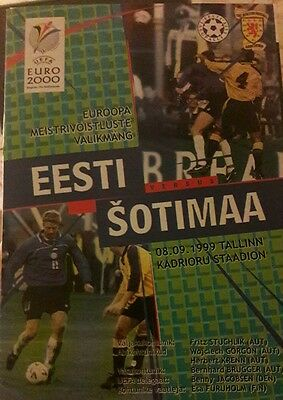 Estonia v Scotland 1999