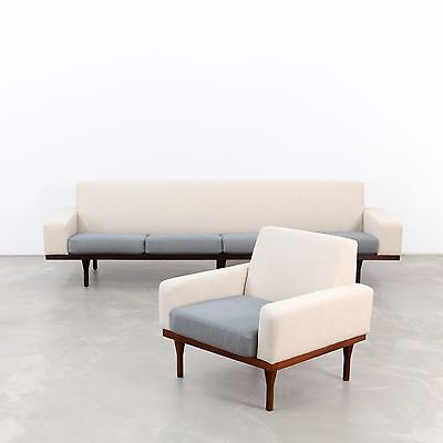 Four-Seat Sofa and Lounge Chair by Illum Wikkelsø for Eilersen 1960s | 1960er