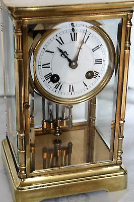 Antique clock french four glass crystal regulater
