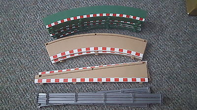 Scalextric 'Sport' borders and barriers in fair/good condition.