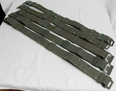 French Army Pistol Belt - Military Surplus Webbing D-Ring Canvas Job Lot X5 A91