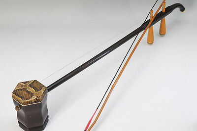 Chinese 2-Strings Instrument Erhu Snake Leather Wood w/bow Free Shipping 646f15