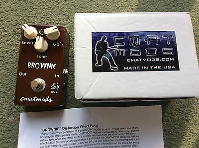 Cmatmods Brownie Overdrive Distortion Hand Made In Usa Boxed Superb Condition