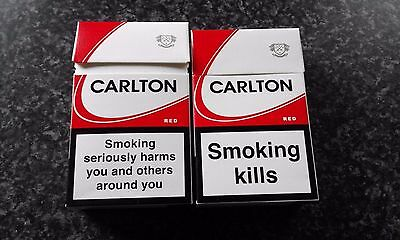Carlton King Size cigarettes Packet Empty. 2 packets.