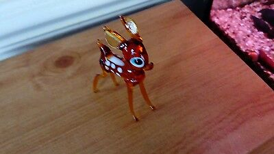Vintage Murano Glass Hand Blown Fawn Glass Bambi Deer Mint Condition Cute Look
