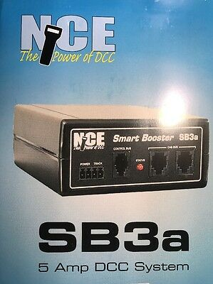 NCE SB3a Command Station / 5 Amp booster with firmware upgraded to SB5 and a CP6