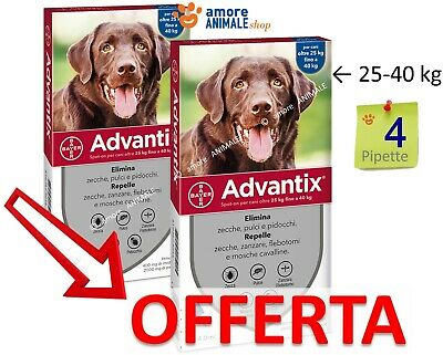 Advantix Bayer Spot-on 4 pipette per cani oltre sopra 25 kg - Antiparassitario