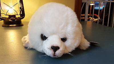 "Yomiko Classics Russ Stuffed Plush Harp Seal New With Tags 15"" Long"