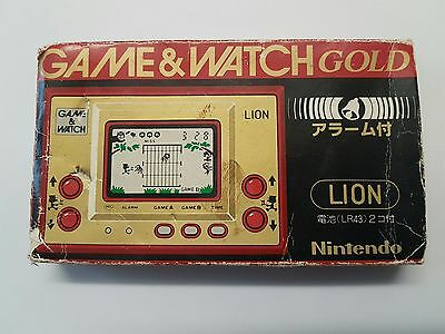 Vintage, Retro, Collectible Nintendo GAME & WATCH LION LN-08 1981 BOX ONLY