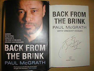 Signed Paul McGrath book Manchester United
