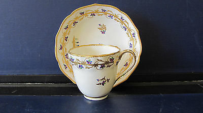 DERBY COFFEE CUP AND SAUCER PATTERN 111 c1785 WILLIAM YATES