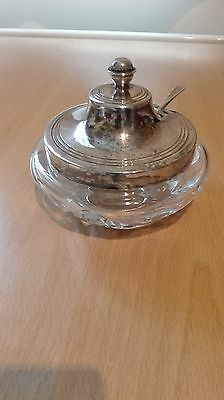 Glass Jam Pot With Lid & Spoon