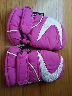 Girls Kids Child's Ski Mittens Thinsulate Age 3-6 years Snow School