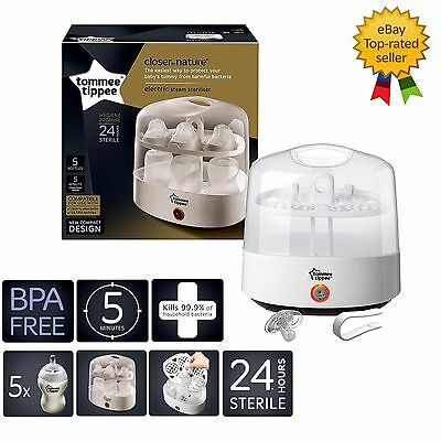 Electric Steam Steriliser Tommee Tippee Closer to Nature Kills 99.9% Bacteria