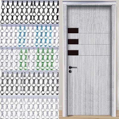 New Aluminium Metal Chain Link Fly Pest Insect Door Screen Curtain Control