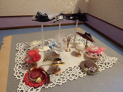 20+ dolls house assortment job lot of hats/stand items shop/house 1.12th