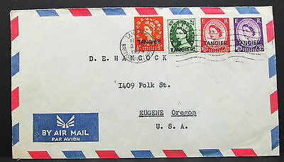 Great Britain Airmail Cover Morocco Tangier USA Großbritannien Lupo Brief H-7860