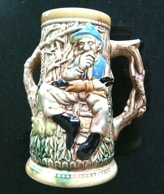 Unusual Beer Stein Tall Ceramic Very Collectible Ale Tankard Lager Drinking Mug