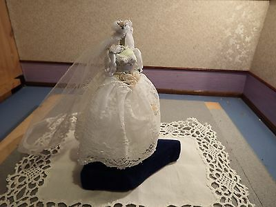 Dolls House wedding dress on mannequin quality detailed item 1.12th