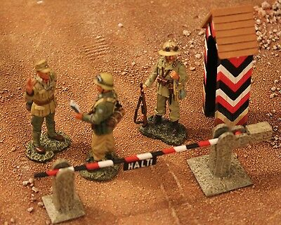 King And Country Ww11 Gemans Afrika Korps Ak17 Road Block Toy Soldiers Britains