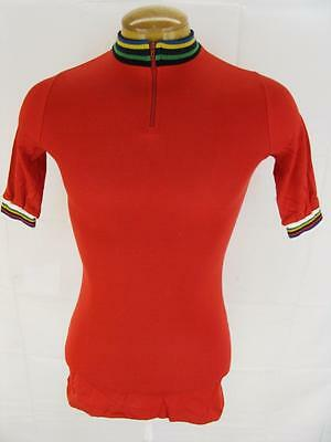 Mens Olympia Red Racing Cycling Bike Jersey Maillot Shirt S-M
