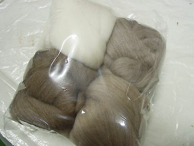 NatPak 200g West Aust  Wool Top Roving  4x50gm natural colour. Spinning Felting