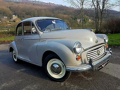 Dove Grey 2 door Morris Minor 1000, Excellent all rounder at a reasonable price!