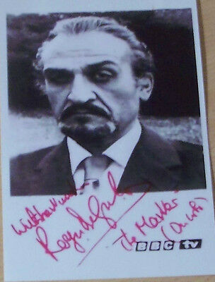 Doctor Who Pre-printed Signed Autographed Photo of Roger Delgado - The Master