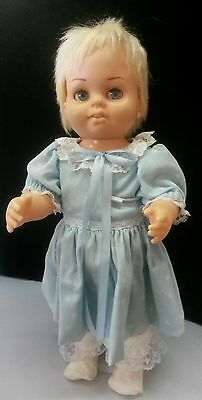 """Vintage Baby Blonde Chatty Cathy 1960's 13"""" doll"""
