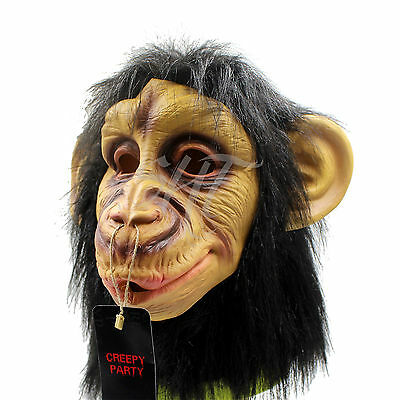 Adult Animal Chimp / Monkey / Ape Mask Fancy Dress Costume Party Accessory
