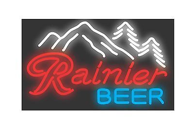 Store shop retail Ultra bright neon LED sign display - Rainier beer