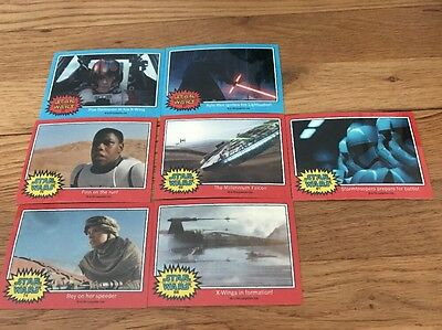 Star Wars Chrome Jedi vs Sith The Force Awakens Clossy Preview Set 7 Cards