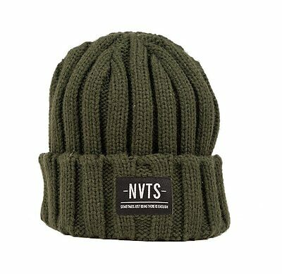 Navitas Apparel NEW Carp Fishing GREEN Anson Beanie Hat Heavy Knit Carpy Green