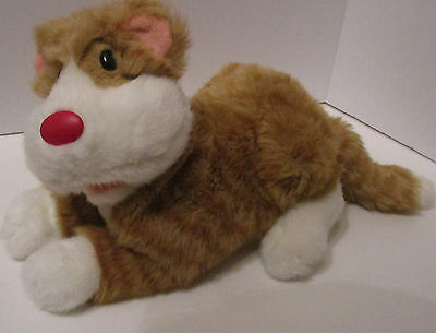 """Big Comfy Couch Plush Snicklefritz The Cat 12"""" Large Stuffed Animal Toy 1995 Vtg"""