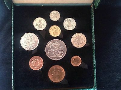 1951 Festival of Britain 10 Coin Proof Set in Original Royal Mint Green Box