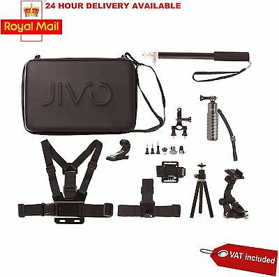 Jivo Go Gear Action Camera Accessory Kit 11 Pieces for Go Pro Brand New