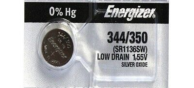 1 Fresh ENERGIZER 344/350 SR1136SW Silver Oxide Watch Battery 1.55V- USA Seller