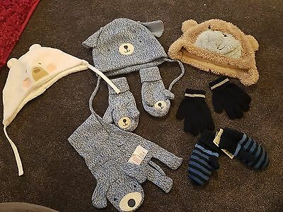boys hat and gloves set 1-2 years Mothercare h&m next