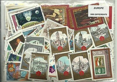 Lot timbres d'Europe