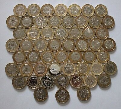 £2 Two Pound Coins Technology 1997 and Commemorative 1999 to Present day