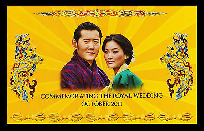 Bhutan 2011 Royal Wedding Commemorative 100 Ngultrum P-35 W/Folder UNC