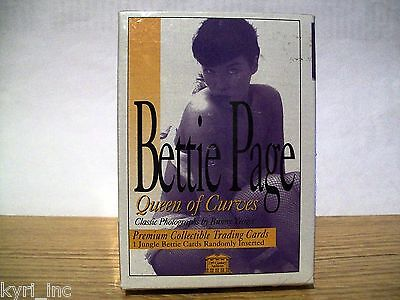 Bettie Page Queen Of Curves Premium Collectable Cards Sealed Pack Bunny Yeager
