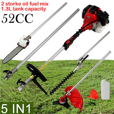 New 52cc Petrol Brush Cutter Strimmer Hedge Trimmer Chainsaw Garden Multi Tool
