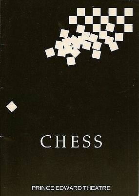Theatre Programme For Chess Starring Elaine Paige
