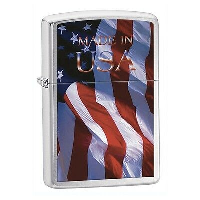 Official Zippo Made In USA Flag Stratocaster Lighter 24797 NEW Boxed Gift